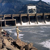 Fishing for shad below Bonneville Dam on the Columbia River.