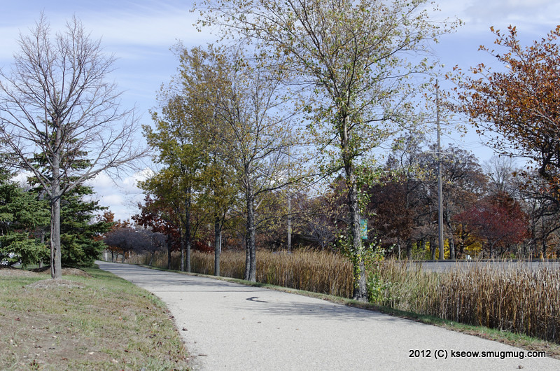 Walking path along Fish Hatchery road