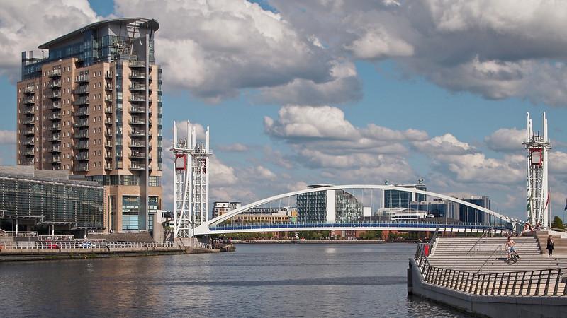 View from near the Media City Bridge