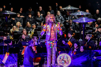 The Flaming Lips perform their album The Soft Bulletin with the Colorado Symphony Orchestra at Red Rocks Amphitheater on May 26, 2016. Photos by Michael McGrath, heyreverb.com.