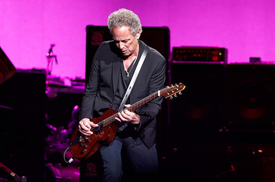 Lindsay Buckingham plays guitar with Fleetwood Mac on Wednesday, Oct. 22, 2014, at The Palace of Auburn Hills. Photo by Ken Settle-Special to The Oakland Press