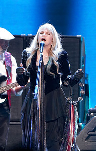 John McVie (left) plays bass guitar while Stevie Nicks sings with Fleetwood Mac on Wednesday, Oct. 22, 2014, at The Palace of Auburn Hills. Photo by Ken Settle-Special to The Oakland Press
