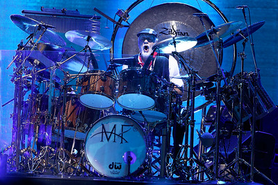 Mick Fleetwood plays drums on stage with Fleetwood Mac on Wednesday, Oct. 22, 2014, at The Palace of Auburn Hills. Photo by Ken Settle-Special to The Oakland Press