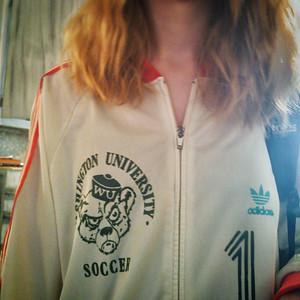 My youngest sporting vintage @washubears soccer gear. #DidThatEverFitMe