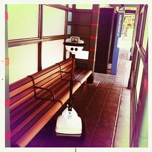 Robot Waits For Train