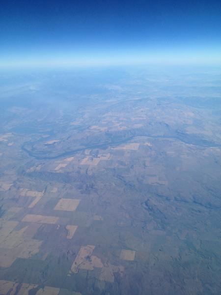 Columbia headed to Bridgeport, Okanogan Valley to the North.
