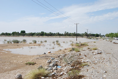 Flooding on the road between Muscat and the UAE border. Taken 12 Nov 2011