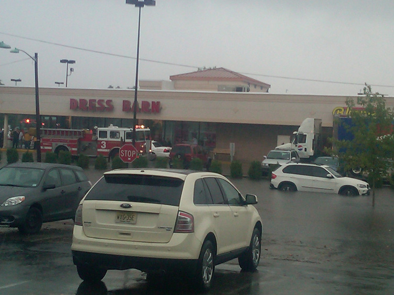 street by dress barn store in Hackensack near car wash