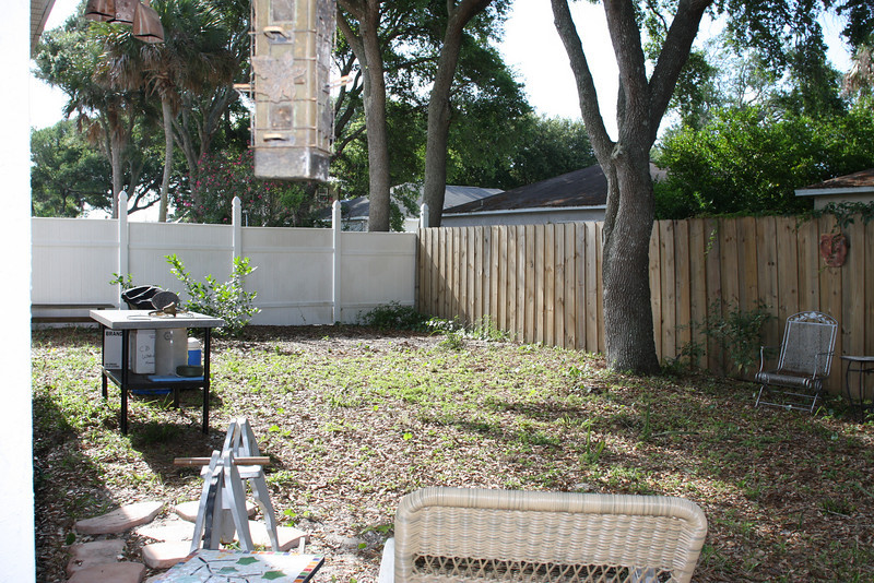 back yard befor picture