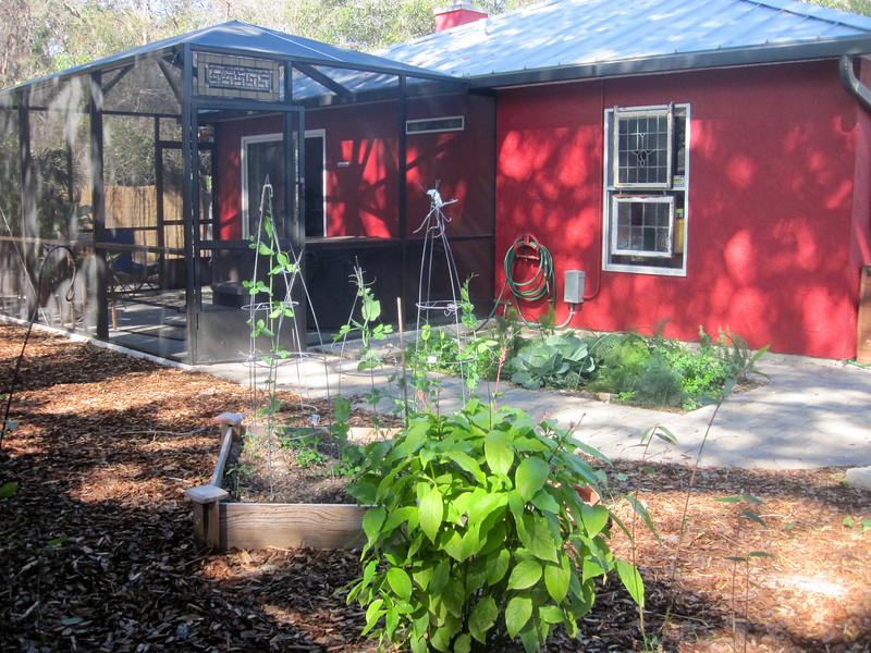 new lanai and herb garden