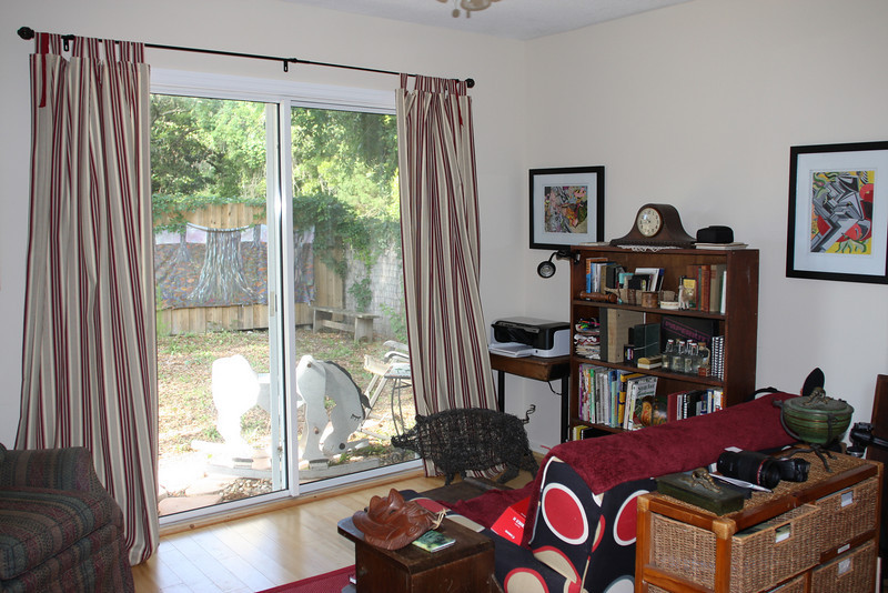my office space with view to backyard