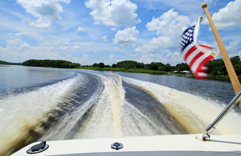 From Lonnie's powerful Boat on St. Johns River