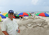 My Friend Ed at Sand Sculpture contest New Smyrna Beach