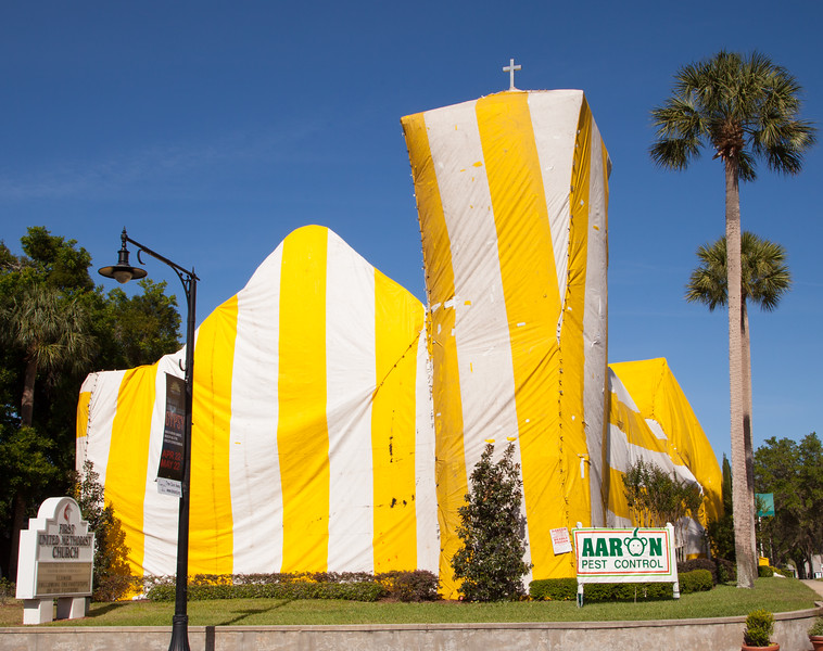 Exterminating devilsih Termites from the Deland Methodist Church