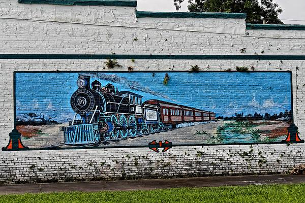 Florida West Coast Railroad Locomotive Mural