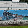 Florida West Coast Railroad Locomotive Mural