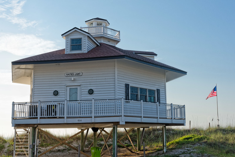 """Katie's Light,""  a replica of the famous Thomas Point Lighthouse"