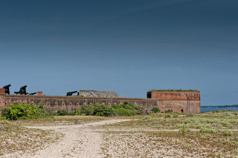 Fort Clinch From the Beach