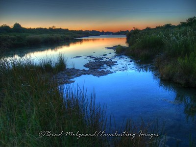 """Blue Twilight""  This is the Pecos River, looking east from the flume."