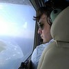 Flying in Hawaii.