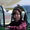 """In the cockpit of the first plant I learned how to fly, a Grumman A1A """"Yankee""""."""