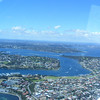 Over Fremantle looking up Swan River toward Perth.