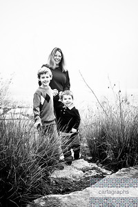 Mom and Kids  bw (1 of 1)