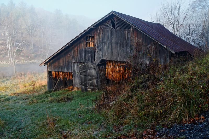 Tobacco Barn at Dawn