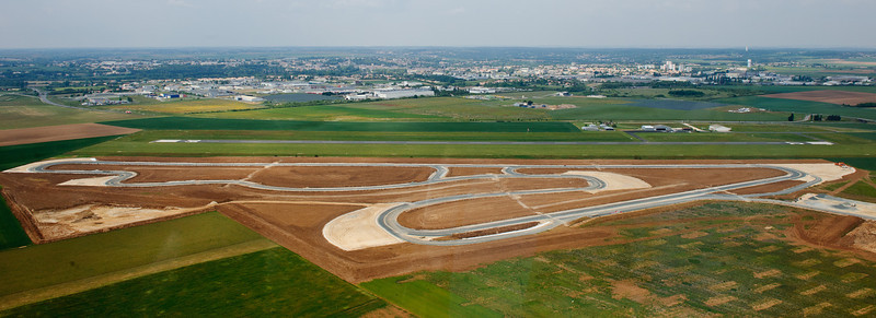 Futur Pôle innovation automobile Sud Vendée et son circuit de 2,4 km.