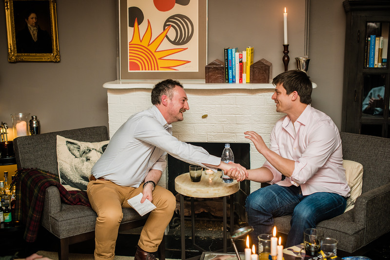 Josh Tetrick, CEO, Hampton Creek in fireside chat with Dominic Rushe, Guardian hosted by Susan MacTavish Best, Living MacTavish in Washington, DC