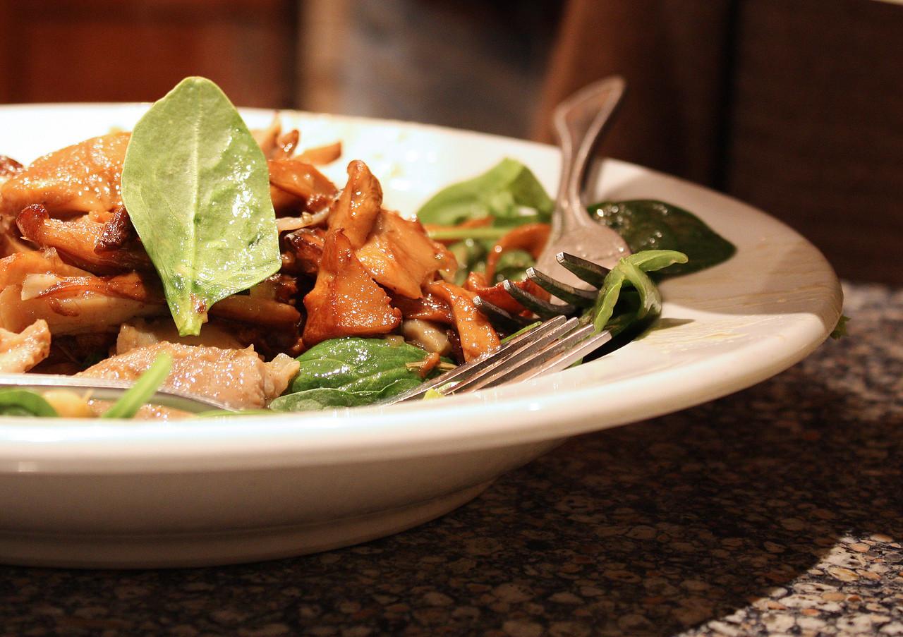 Chanterelles and Chicken Salad