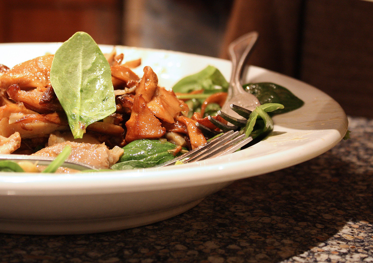 Chanterelles and Chicken Salad