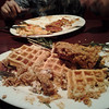 Hash House A Go Go, Reno<br /> <br /> Bacon Waffle and herb Chicken aftermath<br /> <br /> 10/22/11