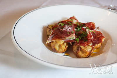 Photo by CandaceWest.com,  Crispy artichoke with iberico ham, TATEL Miami,  1669 Collins Ave, Miami Beach, FL 33139