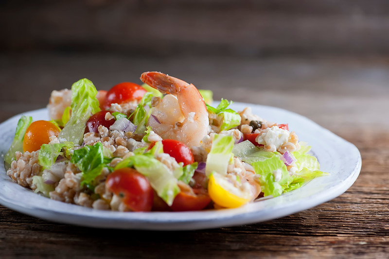 Shrimp Farro Salad
