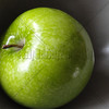 Green Apple in Gray Bowl