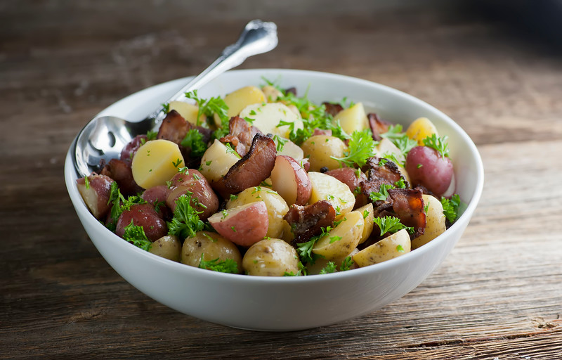 how to make bacon potato salad