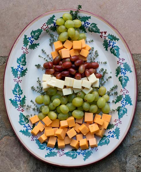 Christmas Tree Fruit.Christmas Tree Fruit And Cheese Platter Framed Cooks
