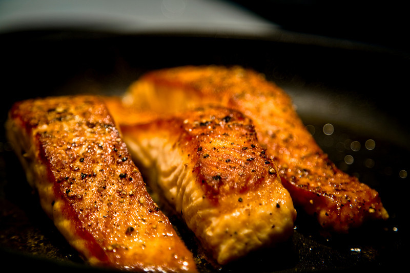 Pan Fried Norwegian Steelhead Salmon