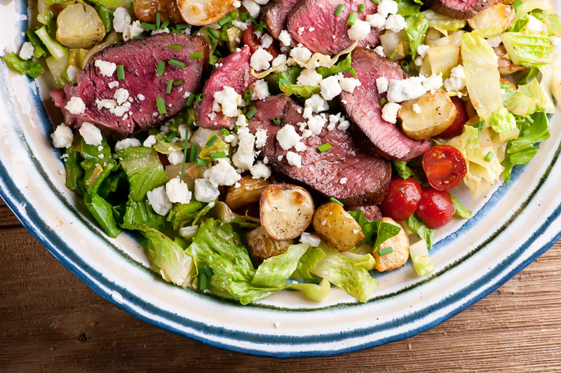 Easy Steak and Potato Salad