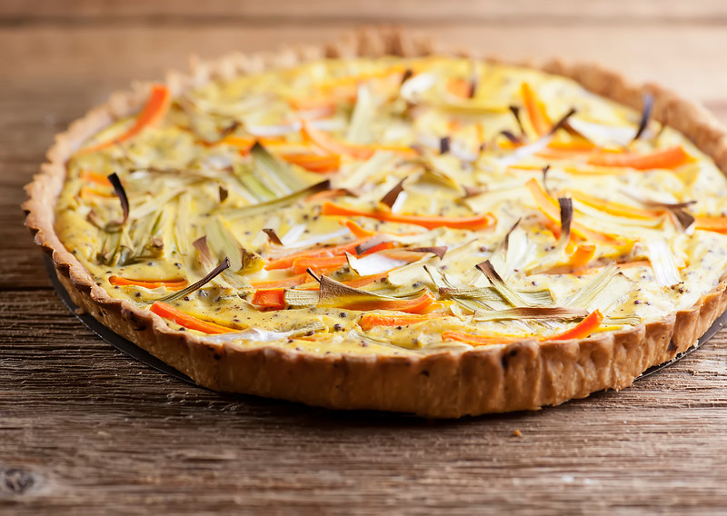 Carrot Leek Mustard Tart
