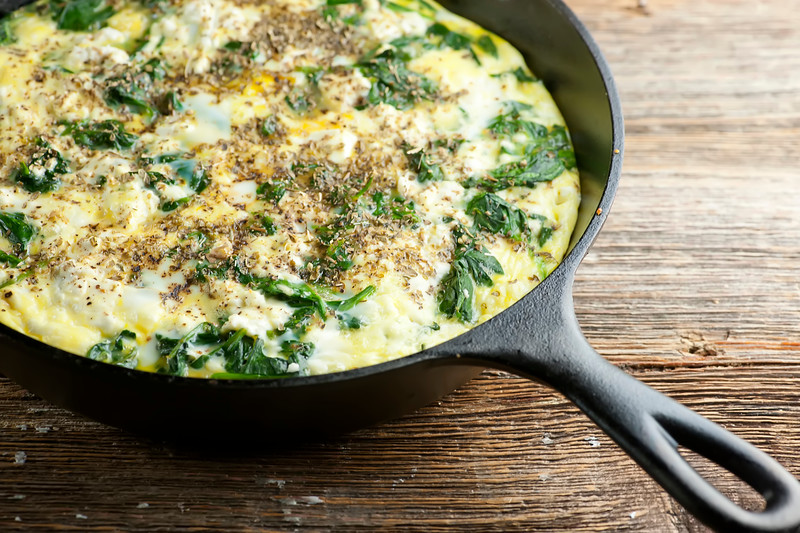 spinach oven frittata
