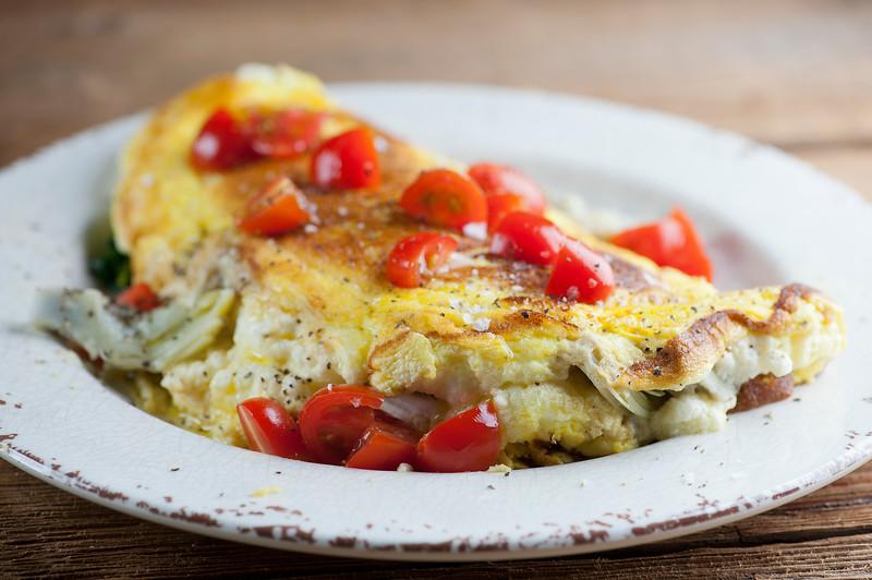 Brie Artichoke Souffle Omelet