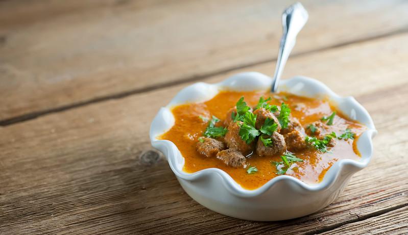 Creamy Tomato Meatball Soup