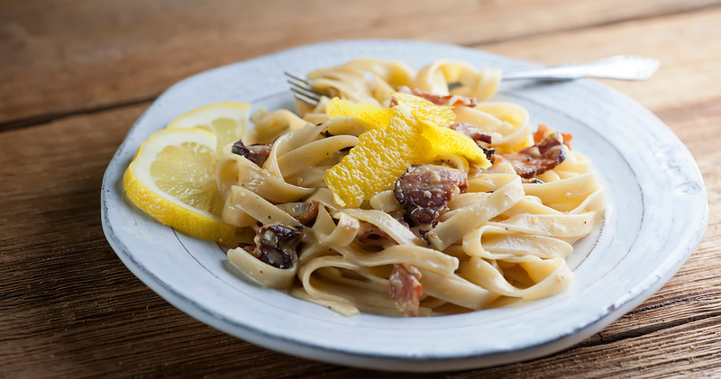 Lemon Pasta Carbonara