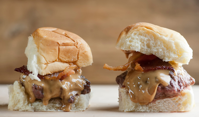 peanut butter bacon sliders