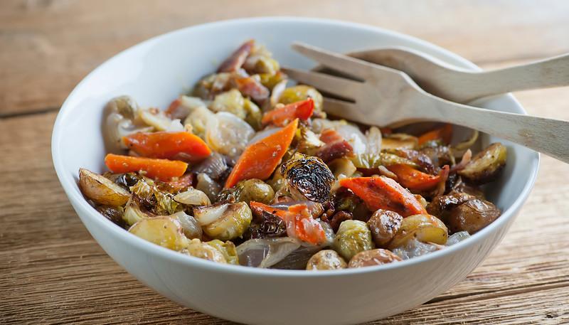 Warm Fall Vegetable Roasted Salad