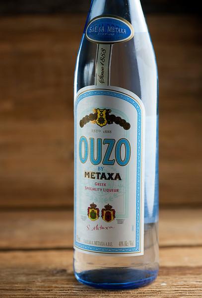 bottle of ouzo