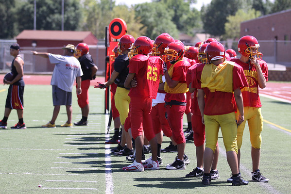 Football Scrimmage August 20, 2011