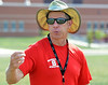 Souderton Area High School  football coach Ed Gallagher at morning  practice.    Monday, August 11, 2014.    Photo by Geoff Patton